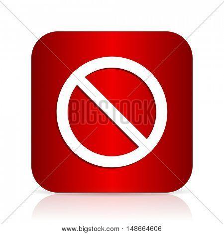 access denied red square modern design icon