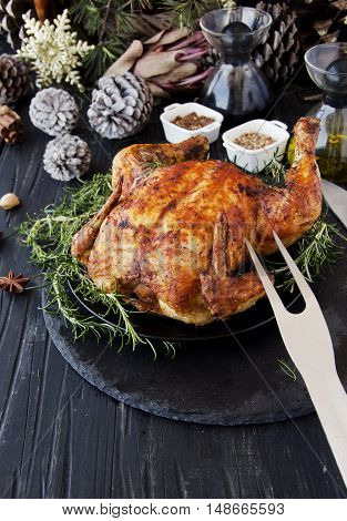 Baked Chicken For Christmas Or New Year