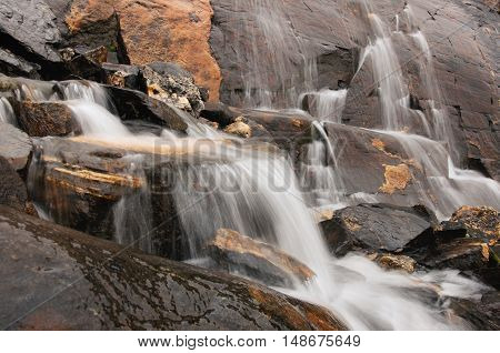 Falls among the northern mountains in September