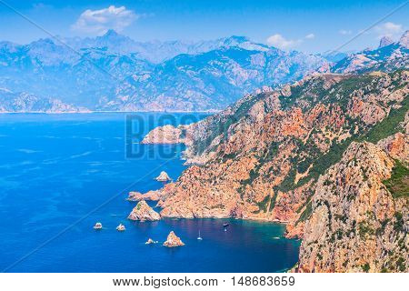 South Corsica. Coastal Summer Landscape