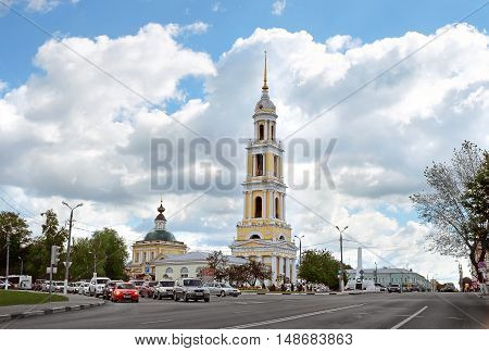 KOLOMNA RUSSIA - AUGUST 26 2016: Holy Trinity New Golutvin convent in Kolomna Kremlin