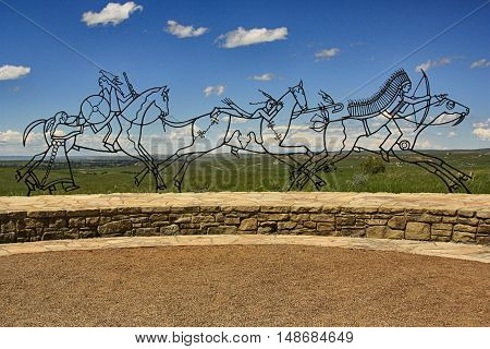 Indian Memorial at Little Bighorn Battlefield in South Dakota