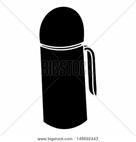 Thermos icon in simple style on a white background vector illustration