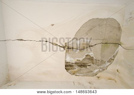Mold wall abondoned earthquake 1999 athens greece