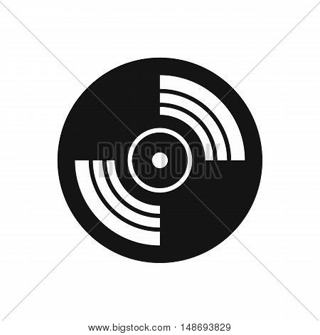Gramophone vinyl LP record icon in simple style on a white background vector illustration