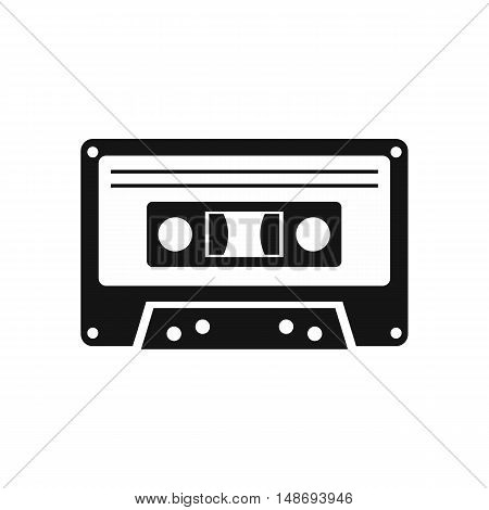 Cassette tape icon in simple style on a white background vector illustration