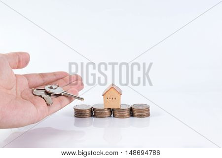House and coin,  invesment and realestate concept