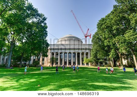 Boston Massachusetts - September 4 2016: The Great Dome of the Massachusetts Institute of Technology.
