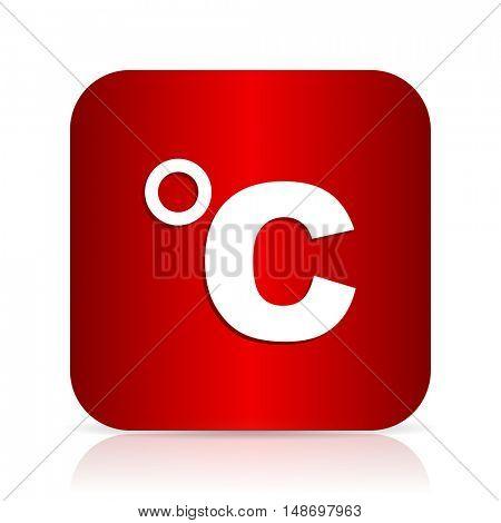 celsius red square modern design icon