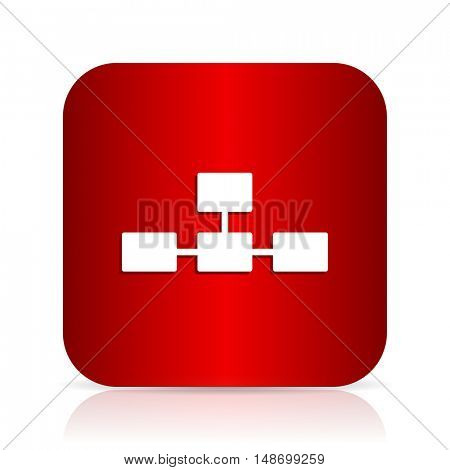database red square modern design icon