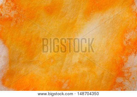 Watercolor abstract light orange background with texture