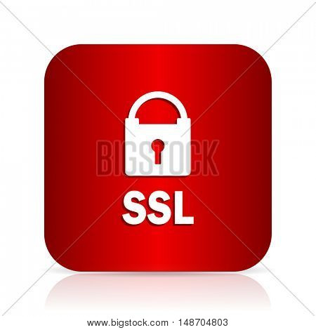 ssl red square modern design icon