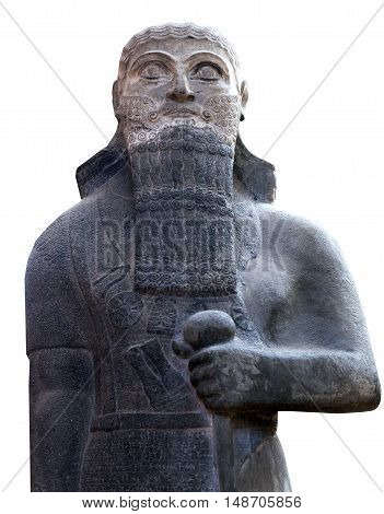 Statue of a king Shalmaneser III (858-824 B.C.) of Neo-Assyrian Period