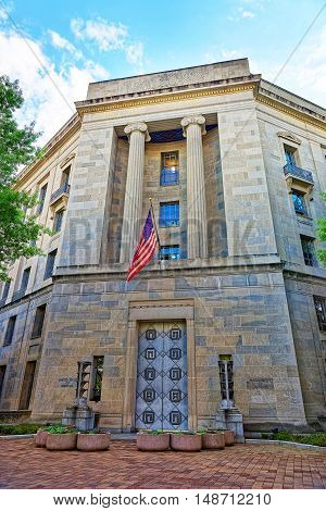 Department Of Justice In Washington Dc Usa