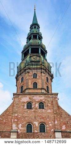 Look From The Bottom At Saint Peter Church In Riga