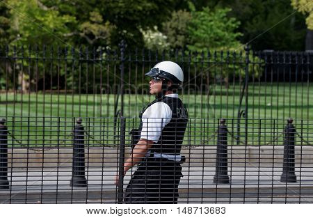 Policeman On The Duty In Washington