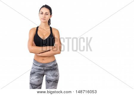 Front View Of Sportswoman