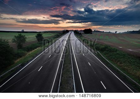 Empty Asphalt Road with Moody Twilight Sky.tif