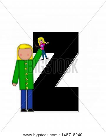 The letter Z in the alphabet set