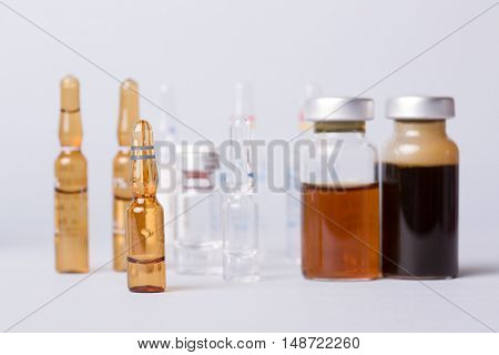 syringe with ampules of drugs