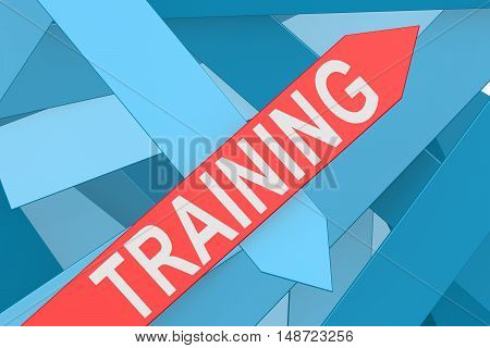 Training Arrow Pointing Upward