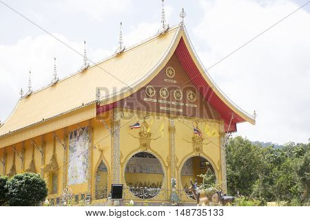 Temple thailand,Klong-Kaow-Jun the church of temple of Trang province in Thailand.