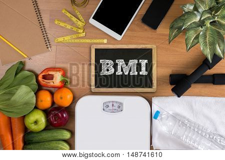 Bmi Body Mass Index Formula Rate Formula In A Board