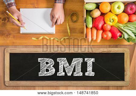 Bmi Body Mass Index Formula Rate Formula In A Board