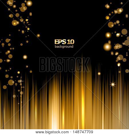 Abstract composition shiny geometric shapes flare visual line light golden circle radiance icon effulgence logo construction glory screen saver luster bubble sheen EPS 10 vector