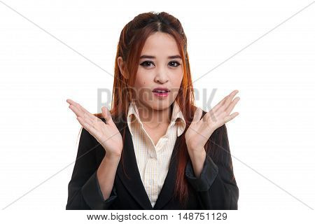 Shocked Young Asian Business Woman.