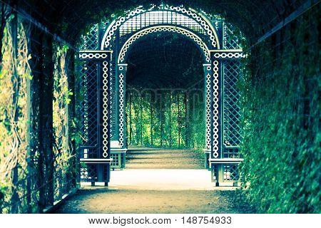 Royal Garden Tunnel. Elements of Garden Architecture.