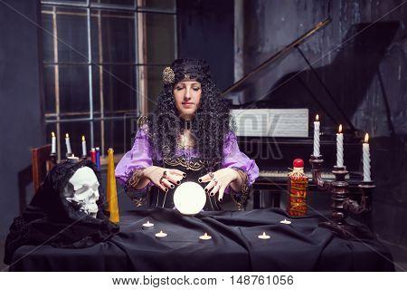 Sorceress in her room