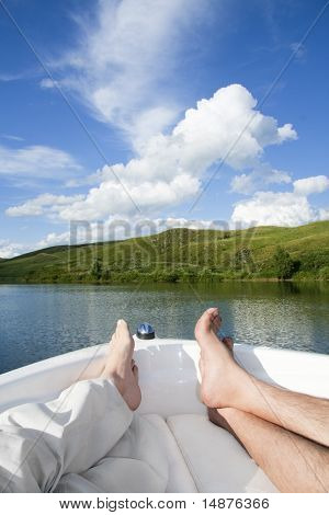 Relaxing On A Boat Cruise