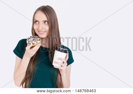 Tasty Donut And Coffee