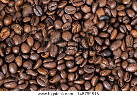 a continuous background of coffee a beans
