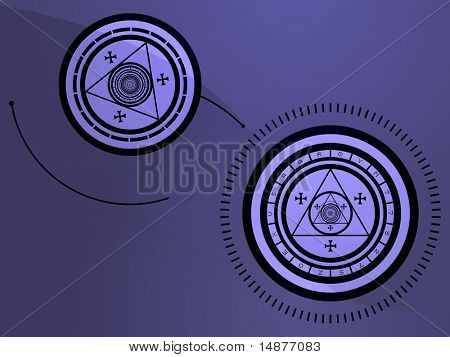 Wierd arcane symbols that look strange and occult