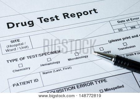 Drug Test Report