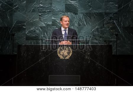 Donald Tusk, President Of European Council At Un General Assemblys