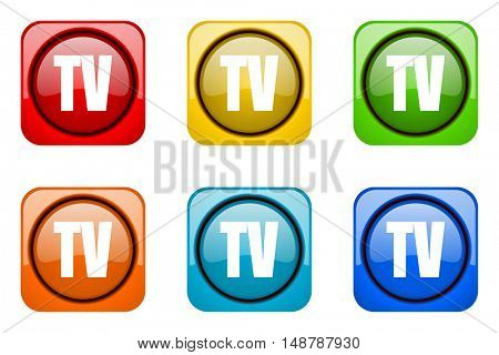 tv colorful web icons