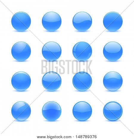 Blue round buttons