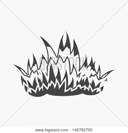 Fire icon black style. Single silhouette fire equipment icon from the big fire Department simple - stock vector
