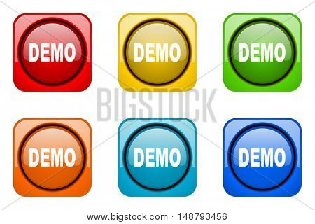 demo colorful web icons