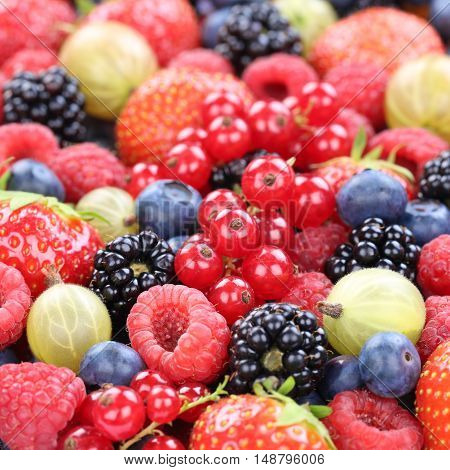 Berry Fruits Fresh Organic Berries Fruit Collection Strawberries, Blueberries Raspberries