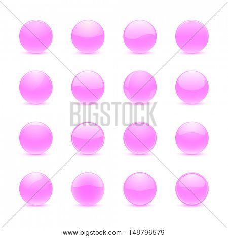 Pink round buttons