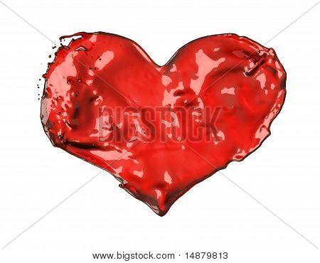 Love And Romance: Red Liquid Heart
