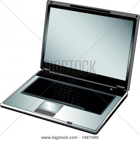 Vector Opened Laptop
