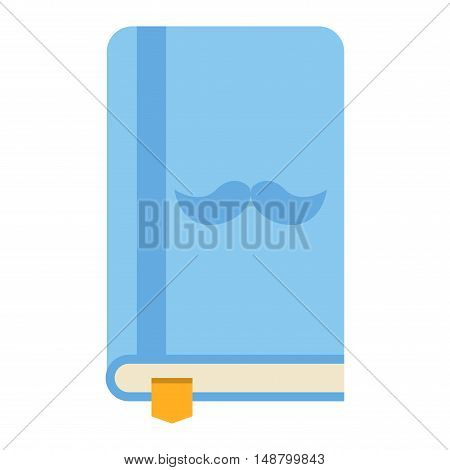 Closed book icon vector illustration in flat design style isolated on white. Academic book learning symbol, reading school sign. Knowledge reading design isolated science university text book cover