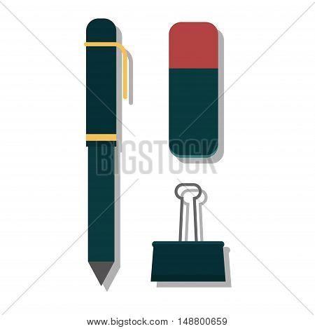 Vector pen illustration isolated on white. Vector pen icon illustration. Vector pen education icon vector. Vector pen silhouette flat style