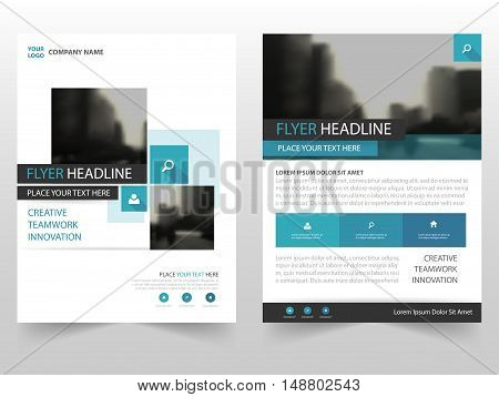 Blue Square business Brochure Leaflet Flyer annual report template design book cover layout design abstract business presentation template a4 size design