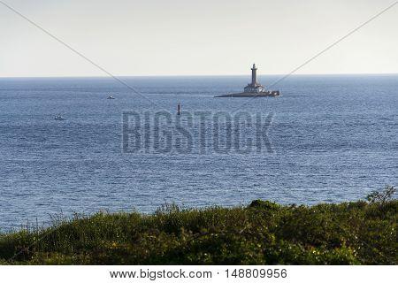 Lighthouse On The Island Porer In Premantura, Pula, Istria, Croatia